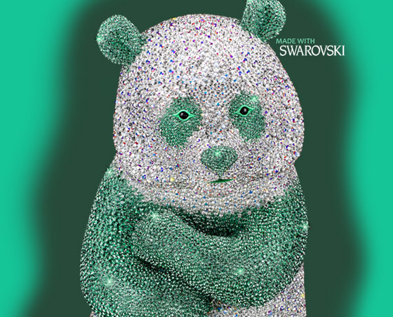 Luxury Panda made of Swarovski Elements